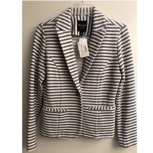 Blue & white striped blazer. NEW WITH TAGS!